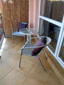 Ein Sitzbereich in der Unterkunft Sunset Beach
