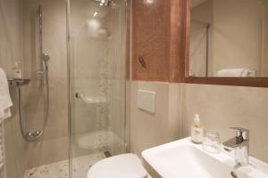 Ein Badezimmer in der Unterkunft Bavaria Biohotel