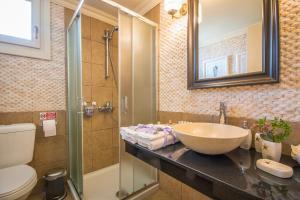 A bathroom at Symi Nautilus Luxury Suites