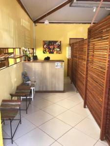 The lobby or reception area at Pousada Caminho das Estrelas