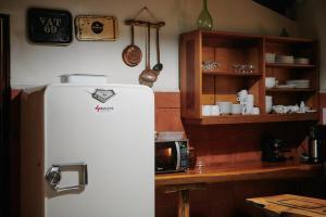 A kitchen or kitchenette at Dai Nonni Hotel