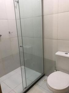 A bathroom at Pousada Caminho das Estrelas