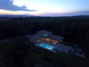 A bird's-eye view of Istrian Villa Happy House