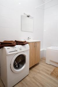Ванна кімната в Central view apartment 23d floor