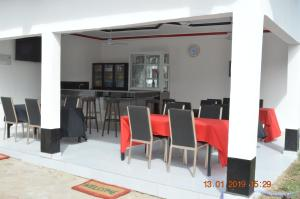 A restaurant or other place to eat at sukuta nema guest house