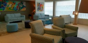 A seating area at Olive Boutique Hotel Nahariya