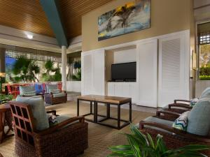 A seating area at Marriott's Royal Palms