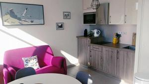 A kitchen or kitchenette at Grand studio au pied du panier