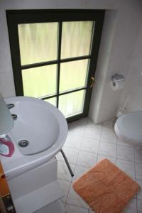 Ein Badezimmer in der Unterkunft Ferienhof Alte Schmiede