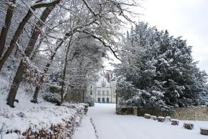 Chateau des Arpentis during the winter