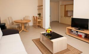 A television and/or entertainment centre at Spacious 1 Bedroom 4 Star Apartment, Mlini