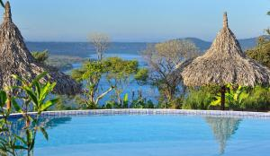 The swimming pool at or near Hacienda Puerta del Cielo Eco Lodge & Spa