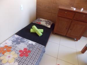A bed or beds in a room at Flat Maragogi, com ar e vista do mar nos 2 quartos!