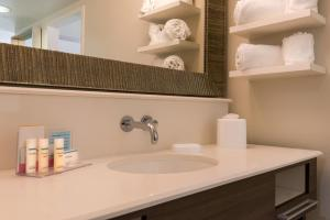 A bathroom at Hampton Inn & Suites Orlando-East UCF