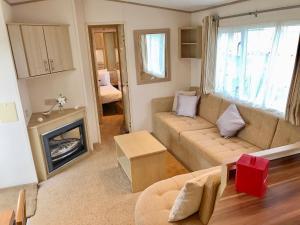 A seating area at Heacham Gold Caravan