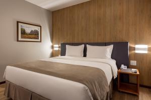 Cama ou camas em um quarto em Monthez Hotel & Eventos