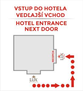 The floor plan of Hotel Lux