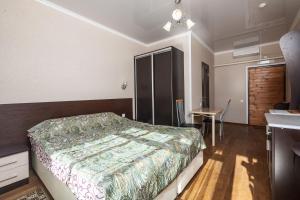 Кровать или кровати в номере Пансионат Большая Медведица