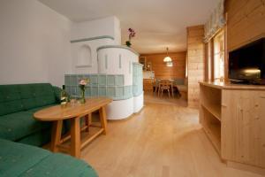 Kuchyň nebo kuchyňský kout v ubytování Abelhof