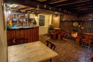 The lounge or bar area at The Black Horse Inn