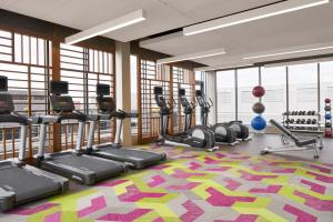 The fitness center and/or fitness facilities at Residence Inn by Marriott Washington Downtown/Convention Center