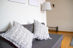 A bed or beds in a room at City Apartment Bielefeld