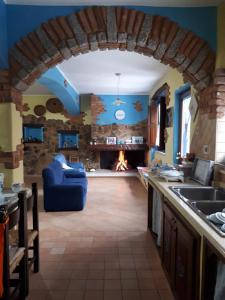 Cucina o angolo cottura di B&B La Dolce Sosta