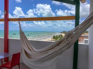 Uma varanda ou terraço em Maraga Beach Hostel
