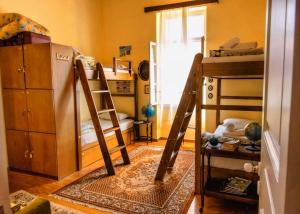 A bunk bed or bunk beds in a room at Athens Quinta