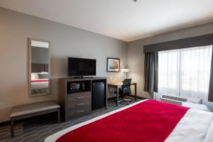 A television and/or entertainment center at Best Western Plus West Lawrence