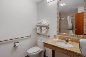 A bathroom at Clarion Suites Duluth I-85