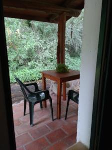 A balcony or terrace at Cabañas Los Hornillos