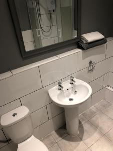 A bathroom at The Pheasant Inn