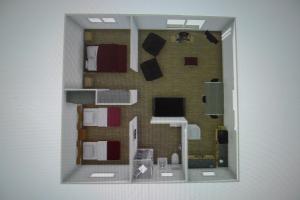 The floor plan of Willaway Motel Apartments