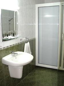 A bathroom at Druzhba Hotel