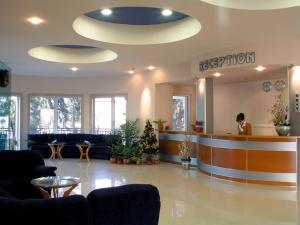The lobby or reception area at Druzhba Hotel