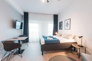Lova arba lovos apgyvendinimo įstaigoje Forenom Aparthotel Helsinki Pikku Huopalahti