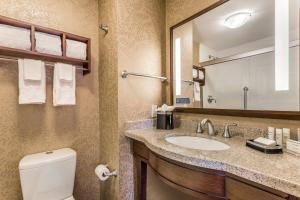 A bathroom at Hampton Inn Manhattan Grand Central