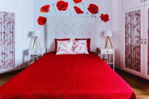 Cama o camas de una habitación en Casa Emblemática Salgado