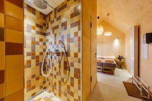 Ein Badezimmer in der Unterkunft Haus am Schilf