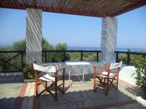 A balcony or terrace at Ilis Villas