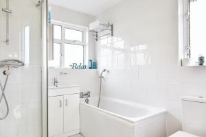 A bathroom at 16 Austin Avenue
