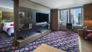 A television and/or entertainment centre at W New York - Times Square