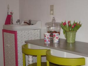 A kitchen or kitchenette at Guesthouse Alizée