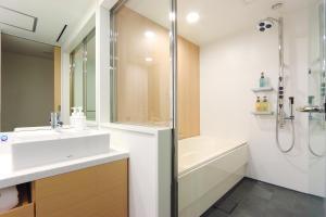 A bathroom at Hakata Tokyu REI Hotel