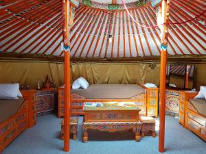 Ein Etagenbett oder Etagenbetten in einem Zimmer der Unterkunft Pension New Nomads