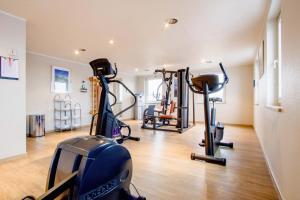 Das Fitnesscenter und/oder die Fitnesseinrichtungen in der Unterkunft Hotel Fulda Mitte