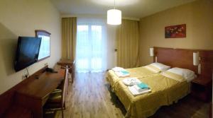 Telewizja i/lub zestaw kina domowego w obiekcie Słowacki Hotel, Medical Spa