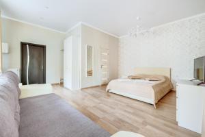 Кровать или кровати в номере Мон Плезир