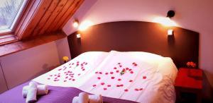Ein Bett oder Betten in einem Zimmer der Unterkunft Hotel Restaurant Dolores